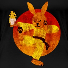 Eastern Bunny, distressed T-Shirts