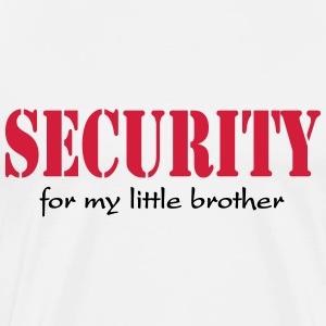 Security for my little Brother T-shirts - Herre premium T-shirt