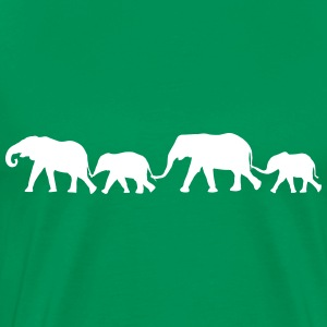 Elephant Family  T-Shirts - Men's Premium T-Shirt