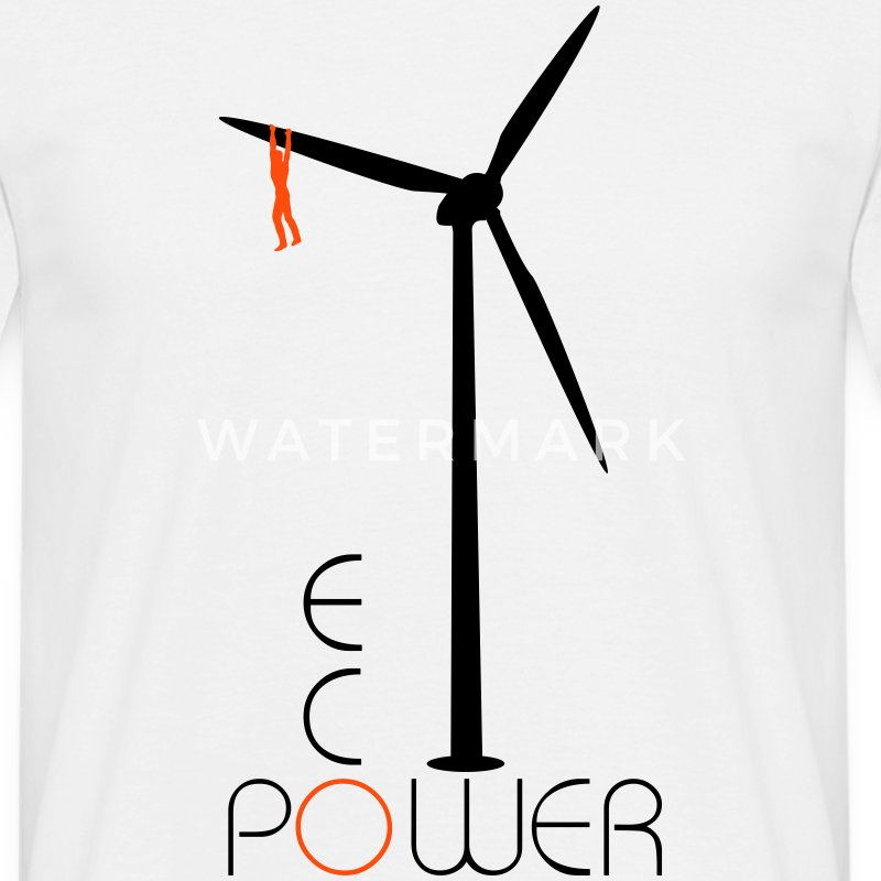 Windmolen Eco Power  T-shirts - Mannen T-shirt
