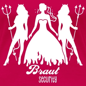 JGA - Braut security - Bride - Team - Teufel 1C T-Shirts - Frauen Premium T-Shirt