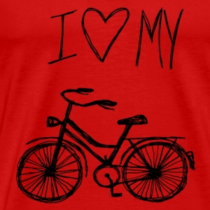 I love my bike - Männer Premium T-Shirt