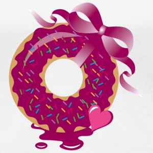 A donut with a ribbon T-Shirts - Women's Premium T-Shirt