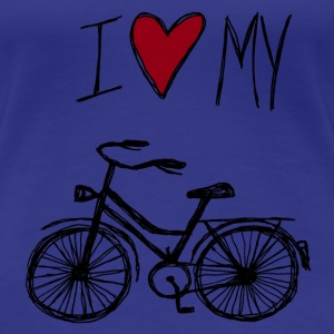 I love my bike - Frauen Premium T-Shirt