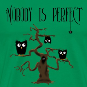 Nobody is perfect mit Spinne und Text T-Shirts - Männer Premium T-Shirt