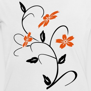 hibiscus blomst T-shirts - Dame kontrast-T-shirt