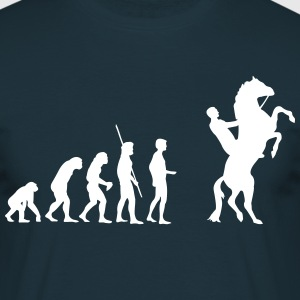 Evolution high horse  T-Shirts - Men's T-Shirt