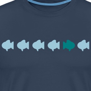 different fish diferentes peces Camisetas - Camiseta premium hombre