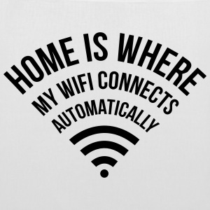 WIFI home is where my wifi connects automatically Sacs et sacs à dos - Tote Bag