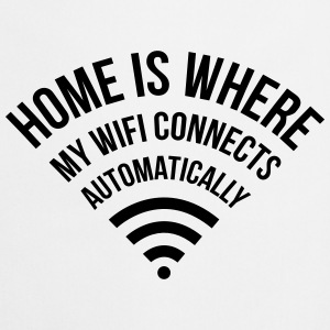 WIFI home is where my wifi connects automatically  Aprons - Cooking Apron