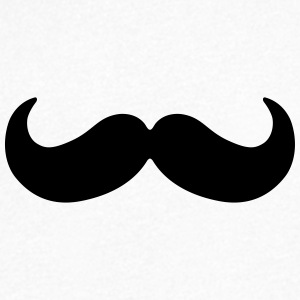 roundish moustache T-Shirts - Men's V-Neck T-Shirt