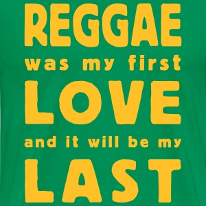 reggae was my first love T-shirts - Herre premium T-shirt