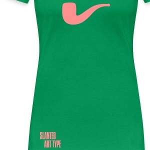 Slanted – Art Type / Green Rose / Woman - Frauen Premium T-Shirt