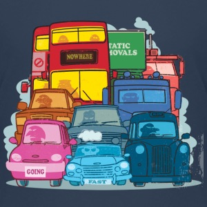 London Traffic featuring a taxi, bus and car - Teenage Premium T-Shirt
