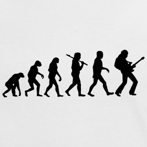 Evolution of Rockguitar T-Shirts - Frauen Kontrast-T-Shirt