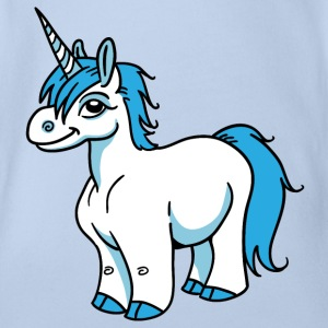 Blue Unicorn T-Shirts - Baby Bio-Kurzarm-Body