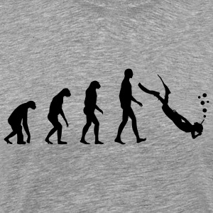 Evolution dive T-shirts - Premium-T-shirt herr