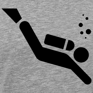 Diver Pictogram T-shirts - Herre premium T-shirt