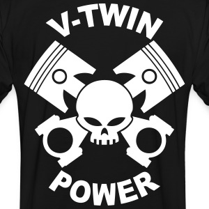 V-twin power skull T-Shirts - Men's Ringer Shirt