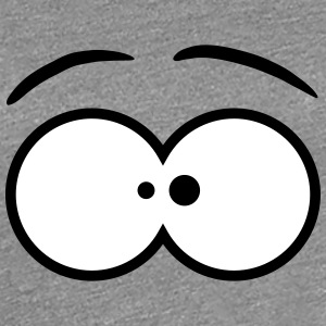 Funny Comic Eyes Design T-shirts - Vrouwen Premium T-shirt