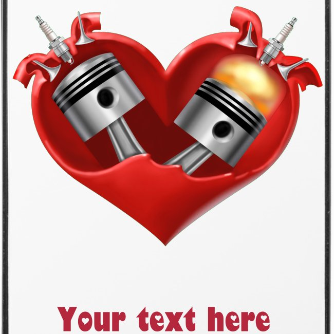 iPhone 4/4S - Heart with your message