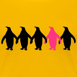 Be Different Pinguine Muster Lustig T-Shirts - Frauen Premium T-Shirt