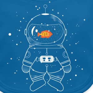 Astronaut with goldfish  Accessories - Baby Organic Bib