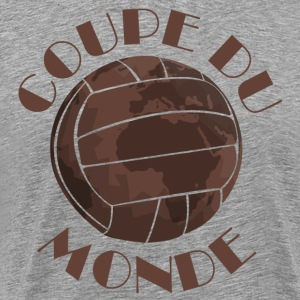 Football leather ball Coupe du Monde  T-Shirts - Men's Premium T-Shirt