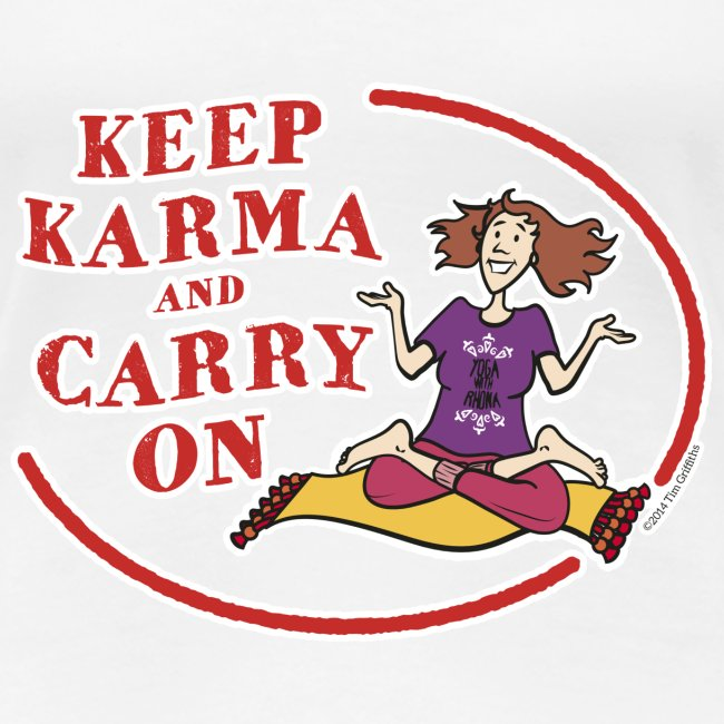 Keep Karma and Carry On (White)