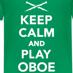 Keep calm and play Oboe T-Shirts - Kinder Premium T-Shirt