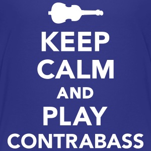 Keep calm and play Contrabass T-Shirts - Kinder Premium T-Shirt