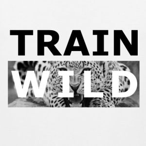 TRAIN WILD (Leopard) - Männer Premium Tank Top