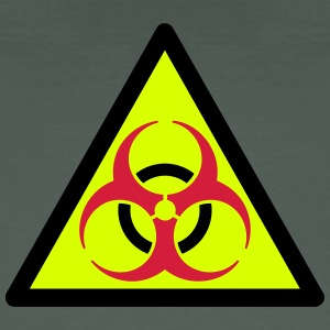 warning triangle biohazard 3 Color Vector T-Shirts - Men's Organic T-shirt