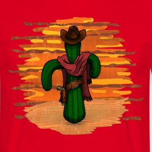 cowboy kaktus sunset DIGITAL T-Shirts - Männer T-Shirt
