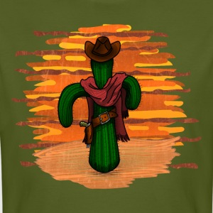 cowboy Cactus in sunset DIGITAL T-Shirts - Men's Organic T-shirt