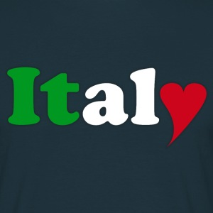 Italy con il cuore - Männer T-Shirt
