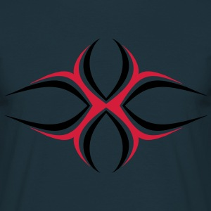 Cross X tribal tattoo T-shirts - T-shirt herr