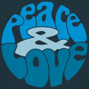 Peace Love_V5 T-shirts - Herre-T-shirt