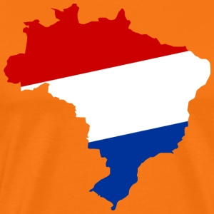 Netherlands Holland Brazil outline T-Shirts - Men's Premium T-Shirt