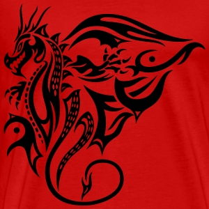 Drache, Tattoo, dragon T-Shirts - Men's Premium T-Shirt