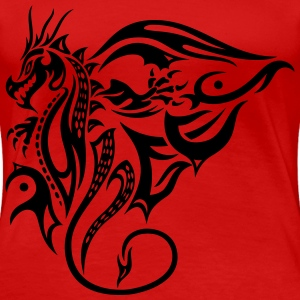 Drache, Tattoo, dragon T-Shirts - Women's Premium T-Shirt