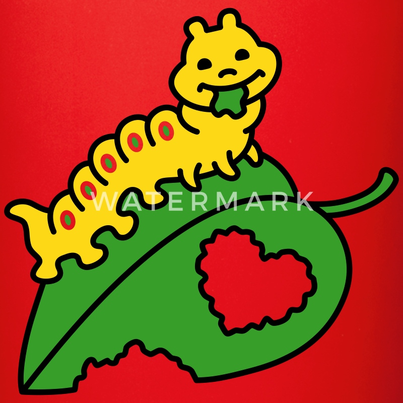 Caterpillar in Love - Enfärgad mugg