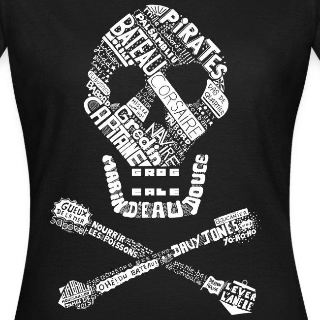 T-shirt Tête de mort Femme (noir)