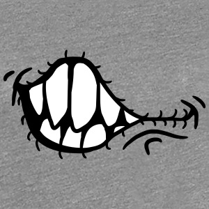Grinning evil horror monster mouth T-Shirts - Women's Premium T-Shirt