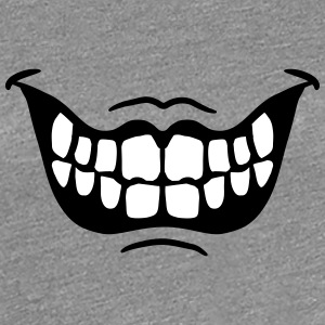 Grinning ugly evil horror mouth T-Shirts - Women's Premium T-Shirt