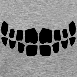 Evil grinning monster teeth T-Shirts - Men's Premium T-Shirt