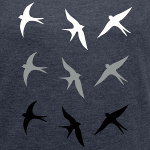 swallow T-Shirts - Women's T-shirt with rolled up sleeves