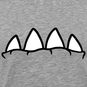 Monster mouth with big teeth T-Shirts - Men's Premium T-Shirt