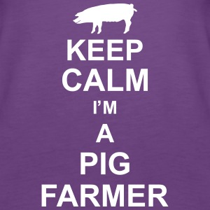 keep_calm_im_a_pig_farmer_g1 Tops - Frauen Premium Tank Top