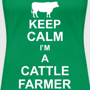 keep_calm_im_a_cattle_farmer_g1 Tee shirts - T-shirt Premium Femme